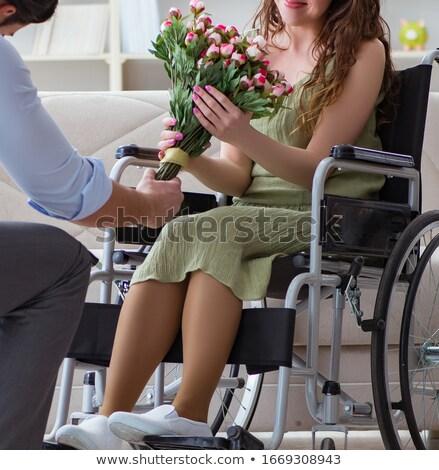 Uomo matrimonio proposta disabili donna Foto d'archivio © Elnur