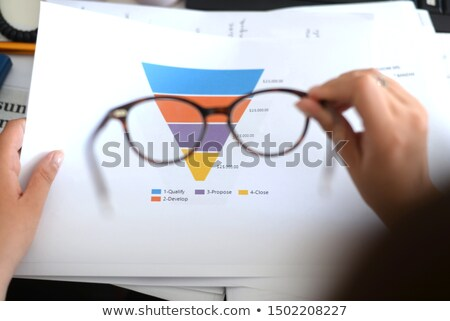 Działalności lejek sprzedaży Internetu strategia biznesowa Zdjęcia stock © Lightsource