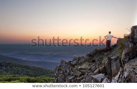 senior hiker overlooks virginia stock photo © backyardproductions
