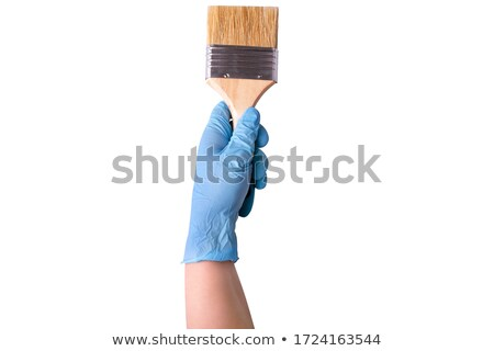 Gloved hand with brush Stock photo © Hofmeester