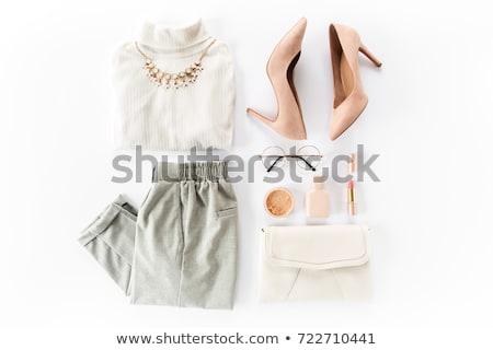 kleding · iconen · mode · pak · jeans - stockfoto © vectorminator