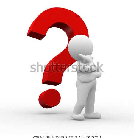 3d human with a question mark stock photo © archipoch