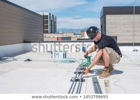 Electrician with conduit Stock photo © photography33