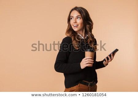 молодые · афроамериканец · деловая · женщина · мобильного · телефона · портрет · служба - Сток-фото © photography33