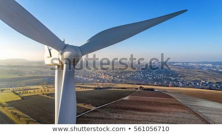 vento · gerador · branco · blue · sky - foto stock © italianestro