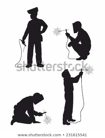 silhouette of a welder Stock photo © mayboro