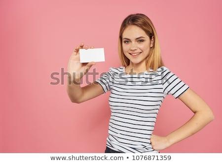 Showing visiting card Stock photo © pressmaster