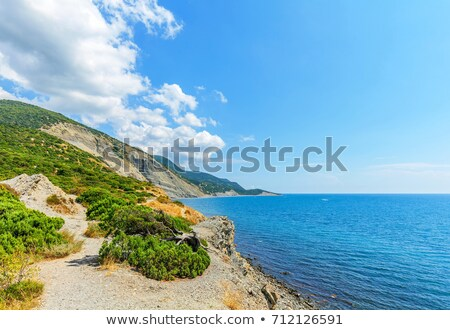 grande · praia · preto · mar · abstrato - foto stock © acidgrey