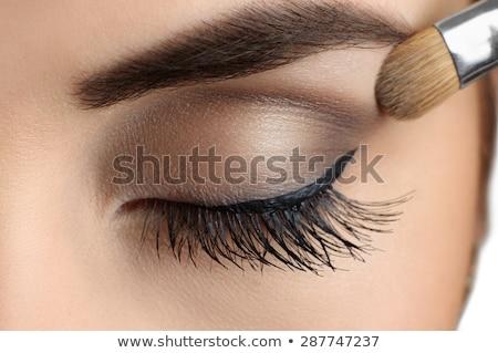 Füstös szem közelkép portré komoly hölgy Stock fotó © mtoome