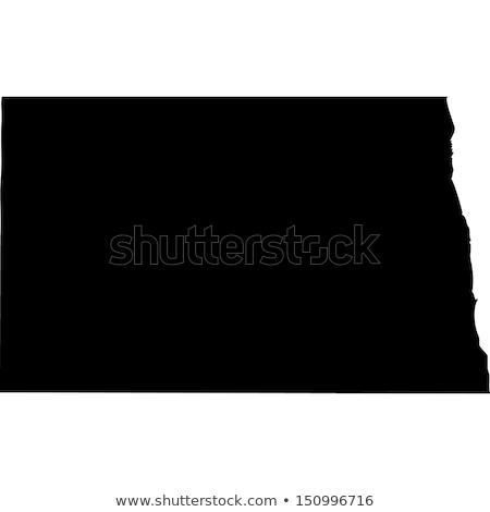 harita · Kuzey · Dakota · mavi · ABD · vektör · yalıtılmış - stok fotoğraf © rbiedermann