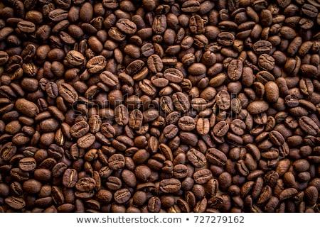 feketekávé · bab · csésze · összeillő · tányér · kávé - stock fotó © eldadcarin