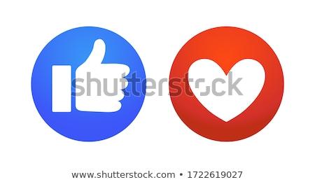ボタン · 愛 · フォーム · オレンジ · 青 - ストックフォト © lokes