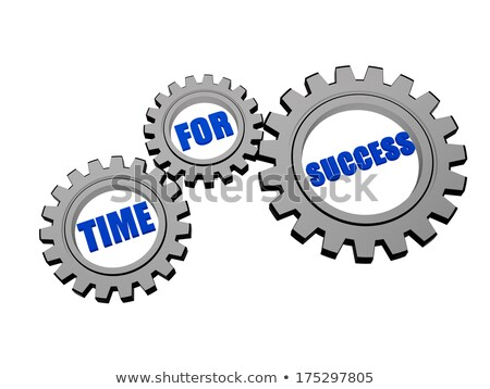 strategy, execution, success in silver grey gears Stock photo © marinini