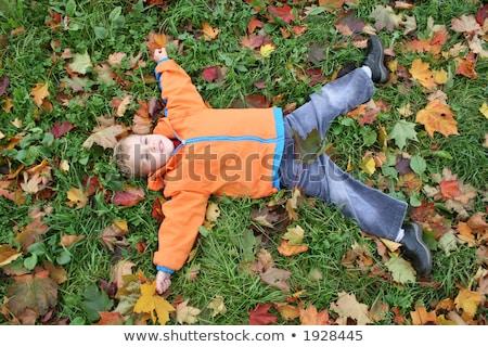 autumn child lies like star Stock photo © Paha_L