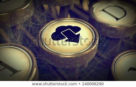 Cloud Typewriter Key. Grunge Background. Stock photo © tashatuvango