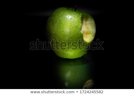 Kép zöld alma fehér étel természet Stock fotó © vwalakte