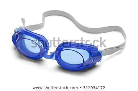 Kék úszás védőszemüveg izolált fehér fény Stock fotó © Marfot