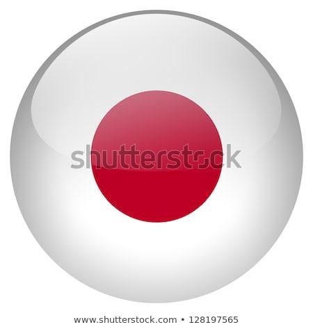 japan flag glossy button stock photo © gubh83