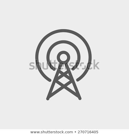 Vector icon broadcasting Stock photo © zzve