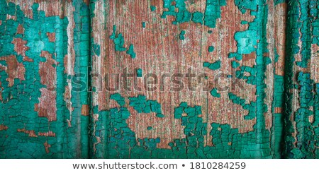 Green and blue peeling paint old fence. Stock photo © latent