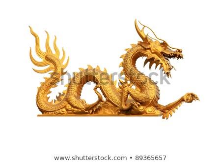 Çin tapınak ejderha heykel hayvan ışık Stok fotoğraf © elwynn