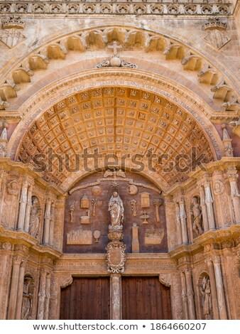 Stock fotó: Mediterrán · kék · ajtó · részletek · szigetek · Spanyolország