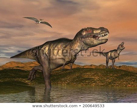コンピュータ · 生成された · 3次元の図 · 恐竜 · 自然 · 科学 - ストックフォト © elenarts