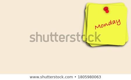 adesivo · messaggio · bordo · giallo · sughero · mondo - foto d'archivio © tashatuvango