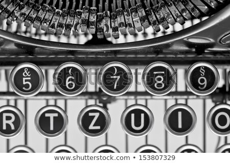 report on old typewriters keys stock photo © tashatuvango