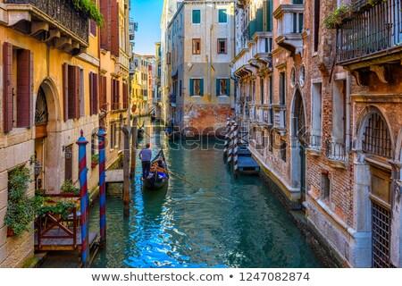 gondola · turisták · csatorna · Velence · öreg · épületek - stock fotó © hofmeester