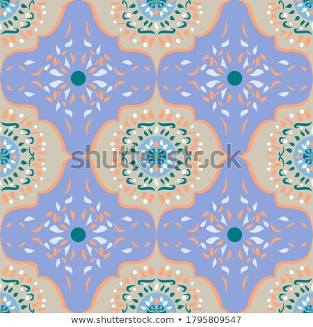 mosaik with tiles gives a beautiful colorful pattern Stock photo © meinzahn