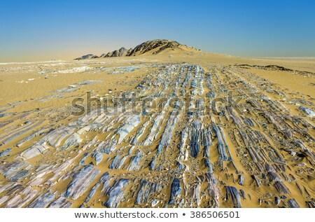stone desert im Yemen near Marib Stock photo © meinzahn