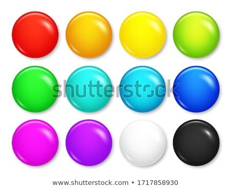 黄色 サークル ボタン 白 ベクトル 光 ストックフォト © gubh83