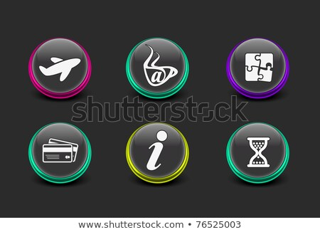 airport airplane icon in puzzle stock photo © istanbul2009