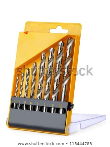 ayarlamak · matkap · arka · plan · Metal · çelik · mekanik - stok fotoğraf © Discovod