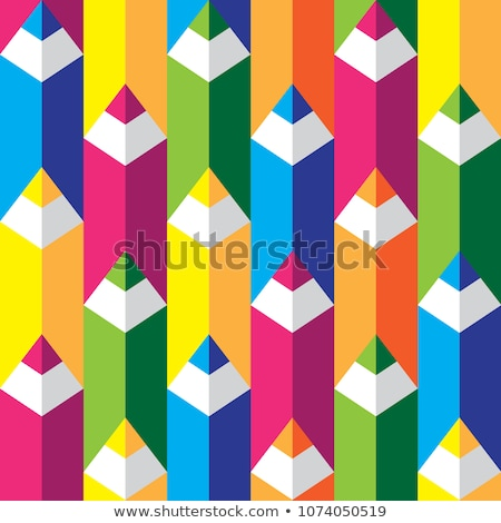 Seamless pattern with colored pencils Stock photo © elenapro