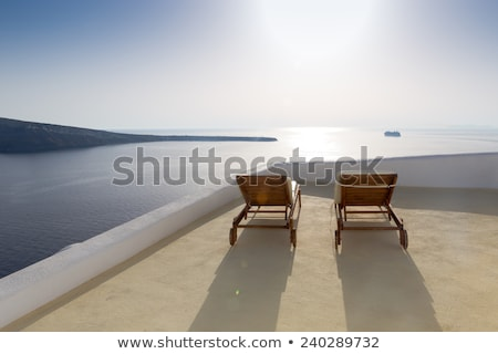 Falu Santorini sziget észak Görögország kilátás Stock fotó © Elenarts