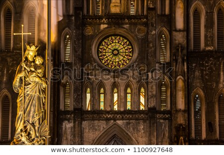 Front view of a catholic church Stock photo © hraska