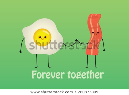 toast with bacon and egg vector illustration stock photo © konturvid