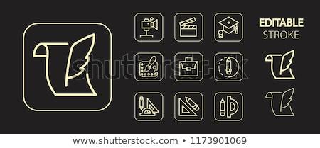 mühendis · altın · vektör · ikon · dizayn · dijital - stok fotoğraf © rizwanali3d