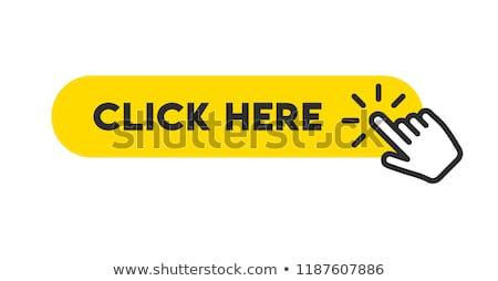 Kliknij tutaj wektora ikona przycisk Internetu cyfrowe Zdjęcia stock © rizwanali3d