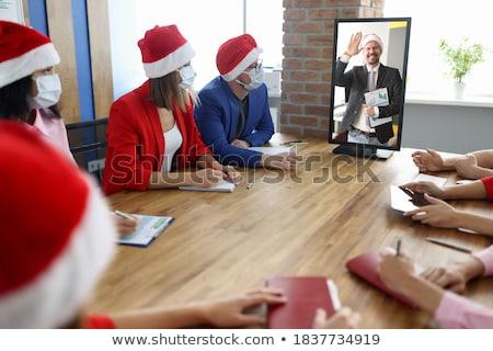 empresária · festa · sorridente · escritório - foto stock © Flareimage