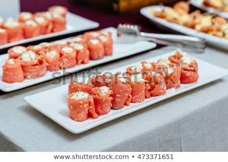 Rodar rojo peces alimentos Foto stock © OleksandrO