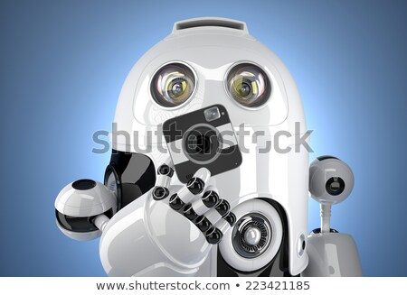 Robot with a squared camera. Contains clipping path Stock photo © Kirill_M