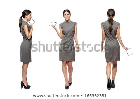 zakenvrouw · beweging · praten · mobiele · lopen - stockfoto © fuzzbones0