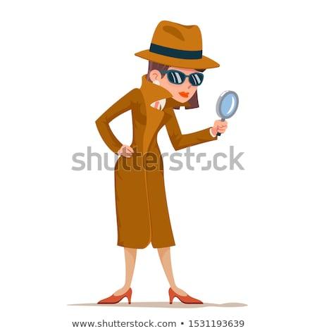 Homme détective belle police femme Emploi Photo stock © piedmontphoto