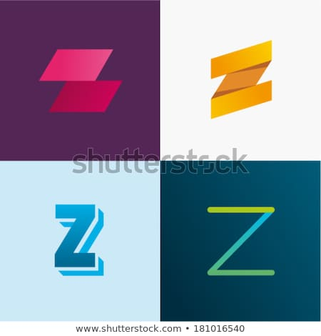 green red and yellow letter z vector logo Stock photo © blaskorizov