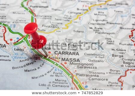 ストックフォト: 地図 · イタリア · 外に · 孤立した · 白 · 青