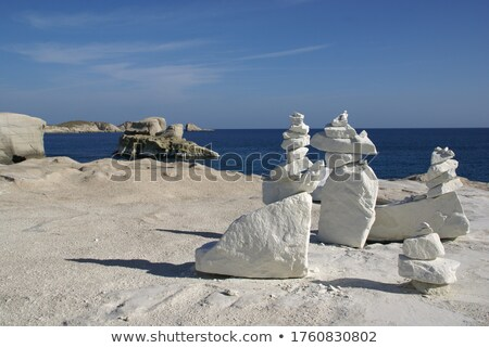 pile of white stones stock photo © marylooo