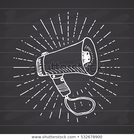 megaphone icon drawn in chalk stock photo © rastudio